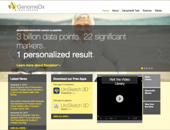 GenomeDX home page